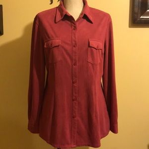 NY & Co Women's Polyester Button Up Shirt, Large